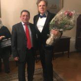 Дмитрий Галихин с послом России в Норвегии
